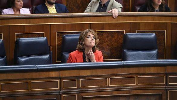 Dolores Delgado durante la sesión de control al Gobierno