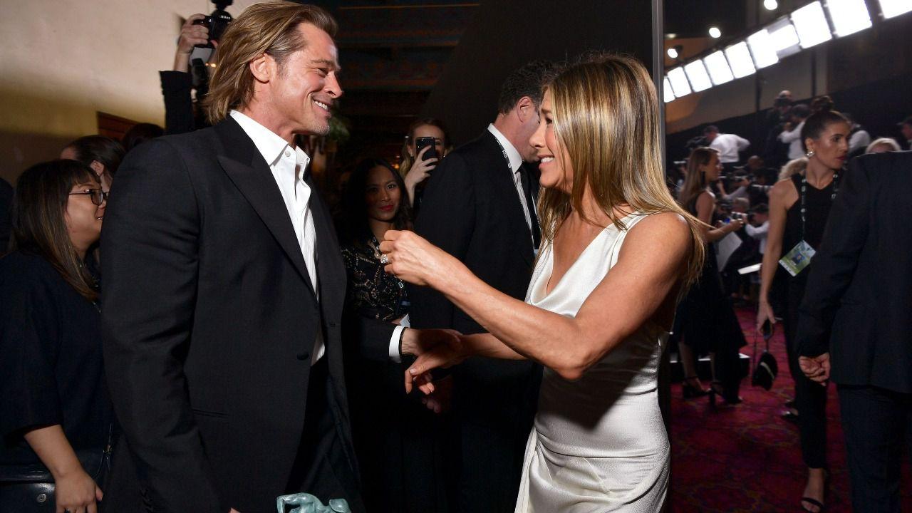 Jennifer Aniston y Brad Pitt se reencuentran en los SAG Awards