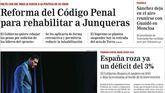 Clamor contra el 'indulto oculto' en las portadas de la prensa