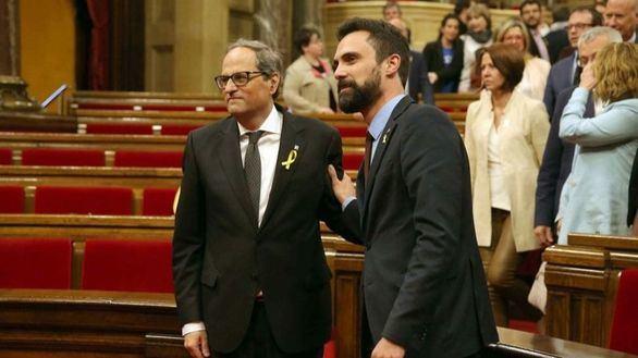 La Junta Electoral exige a Torrent que retire a Torra su escaño
