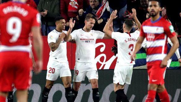 El Sevilla deshace al Granada en el inicio del adiós de Banega | 2-0