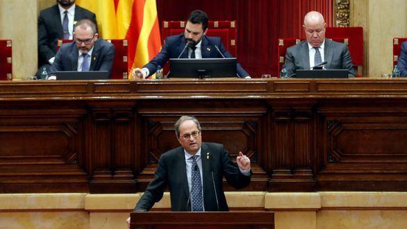 Torrent retira el acta a Torra y JxCat bloquea al Parlamento catalán