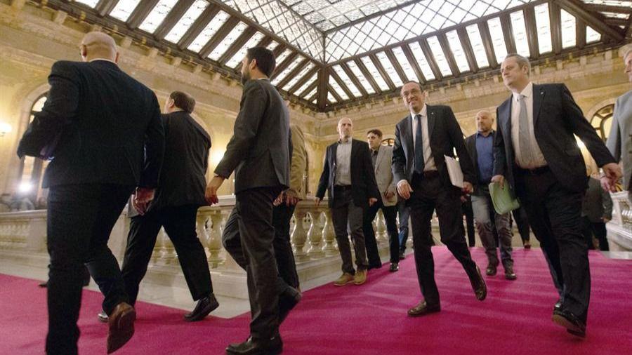 Junqueras y el resto de presos blanquean el procés en el Parlament