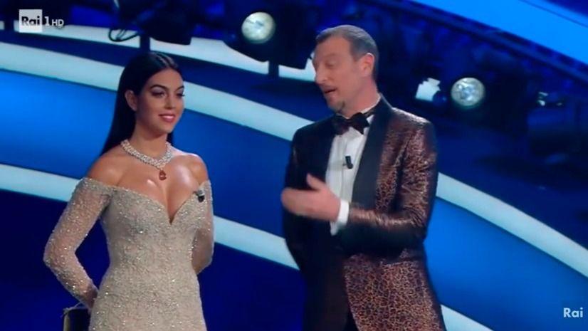 Georgina Rodríguez se estrena como presentadora en el Festival de Sanremo