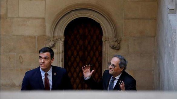 Sánchez insiste en el diálogo y Torra en la autodeterminación y la amnistía