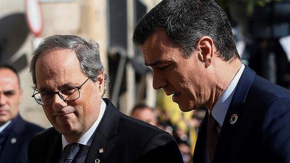 Quim Torra y Pedro Sánchez, este jueves.