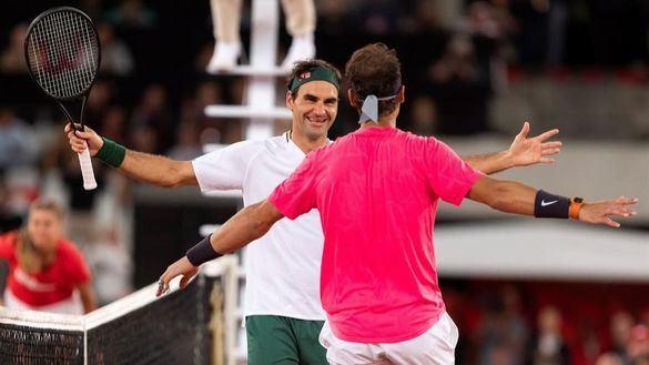 Rafa Nadal y Federer se unen para batir un récord solidario