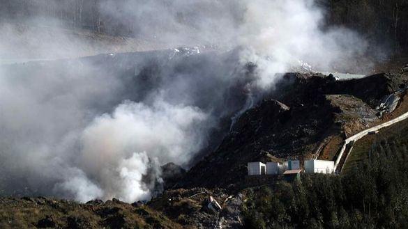 El incendio en el vertedero de Zaldibar suspende el Eibar-Real Sociedad