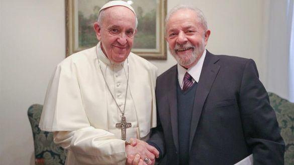 El papa Francisco, sobre Lula: