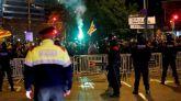 Mossos d'Esquadra evitan una batalla entre independentistas y ultraderechistas