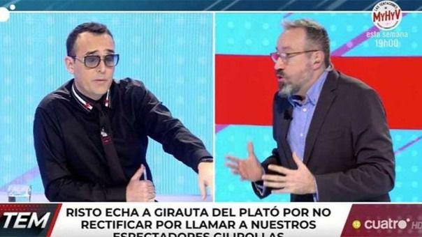 Risto expulsa a Girauta del plató de Todo es mentira por insultar a los espectadores