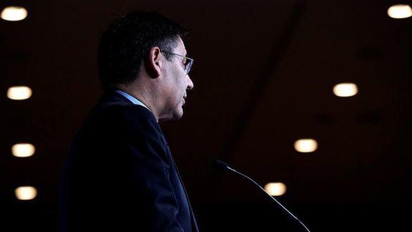 El presidente del Barça, Josep María Bartomeu, este martes.