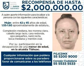 Retrato robot de la mujer que se llevó del colegio a Fátima, una niña de 7 años.