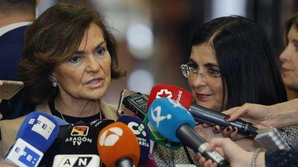 Carmen Calvo insiste en que Delcy Rodríguez no pisó suelo español