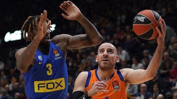 Euroliga. El Valencia Basket se queda en la orilla ante el Maccabi   82-85