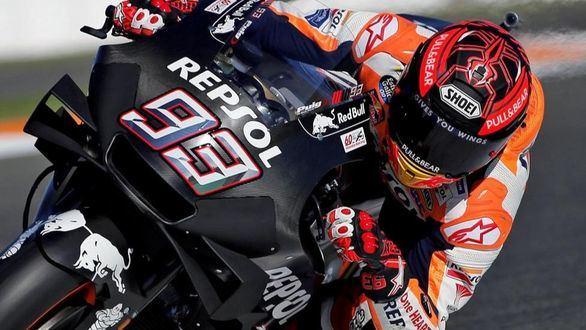 MotoGP. Marc Márquez paró su entrenamiento porque 'empezaba a ser peligroso'