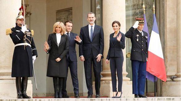 Los Reyes y Macron homenajean a las víctimas del terrorismo