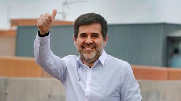 El expresidente de la ANC, Jordi Sànchez, sale de prisión el pasado 25 de enero.