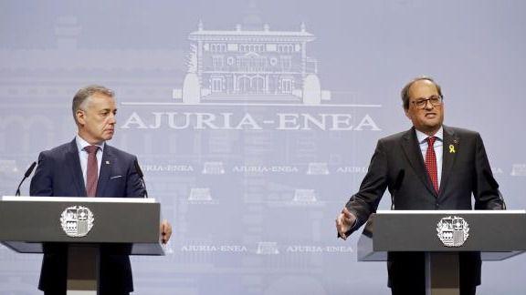 Torra y Urkullu cargan contra el decreto del estado de alarma: