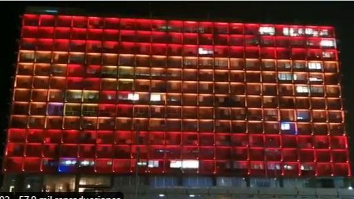 Israel se solidariza con España y proyecta la bandera española en Tel Aviv