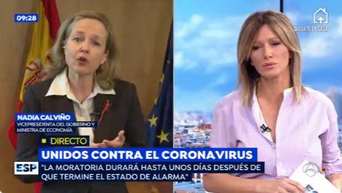 Calviño abronca a Podemos: 'No es momento de dar imagen de Gobierno dividido'