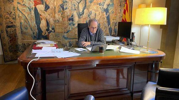 Torra prosigue su campaña propagandística contra Madrid por la gestión de coronavirus