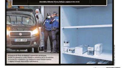 Las portadas de los periódicos del miércoles, 25 de marzo