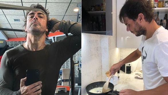 Así pasan la cuarentena por el coronavirus Fernando Alonso y Rafael Nadal