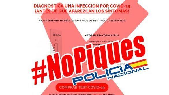 La Policía detecta 12.000 nuevas webs con posibles estafas sobre el coronavirus