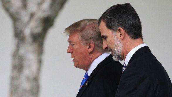 Trump le da el pésame a Felipe VI por las víctimas de coronavirus en España