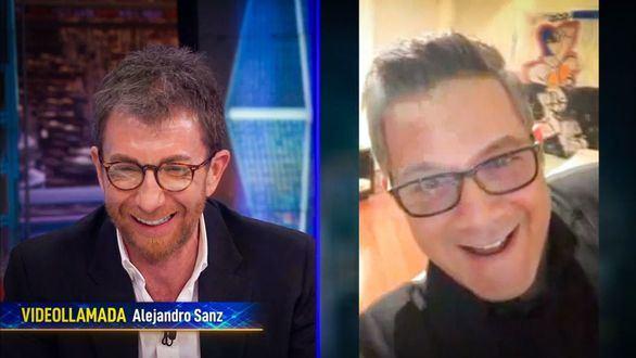 Pablo Motos habló con Alejando Sanz mediante videoconferencia en 'El Hormiguero 3.0'.