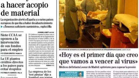 Las portadas de los periódicos de este jueves, 2 de abril