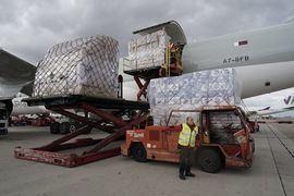 Avión con material sanitario para la Comunidad de Madrid.