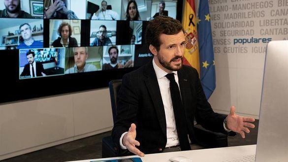 Casado anuncia el apoyo del PP a la ampliación del estado de alarma