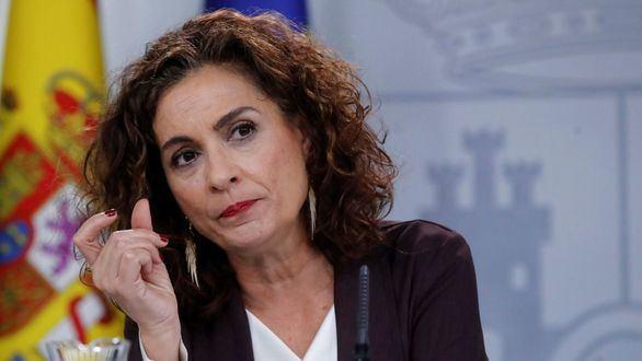 La ministra de Hacienda y Portavoz del Gobierno, María Jesús Montero, durante la rueda de prensa posterior al Consejo de Ministros celebrada en Moncloa.