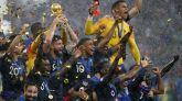 La selección francesa celebra su segundo Mundial.