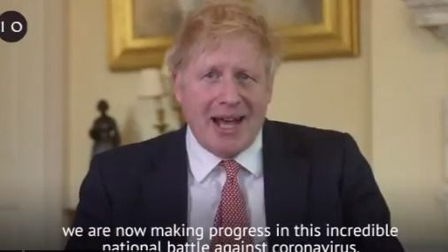 Boris Johnson reaparece en un vídeo tras ser dado de alta por coronavirus