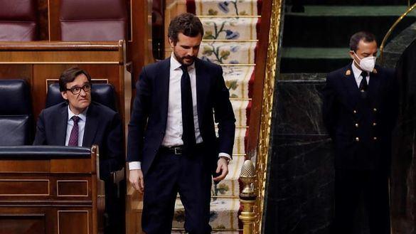 Casado rechaza los pactos de Sánchez y propone acuerdos sectoriales en el Congreso