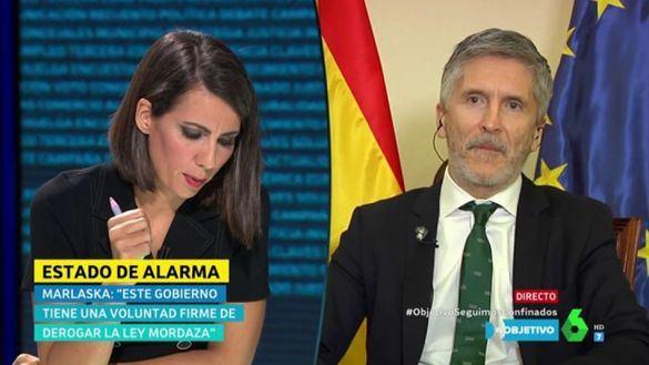 Marlaska se defiende en La Sexta: