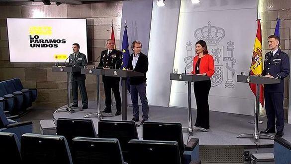 El Gobierno veta las preguntas de la prensa sobre el 'lapsus' del general Santiago
