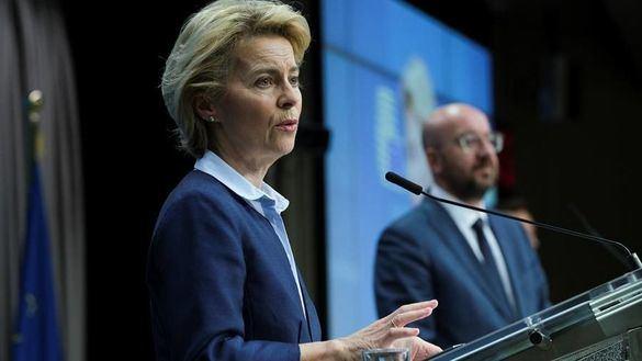 La presidenta de la CE, Ursula von der Leyen y el presidente del Consejo Europeo, Charles Michel.