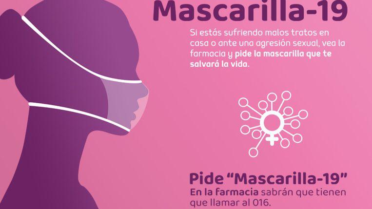 Mascarilla-19, la respuesta de la farmacia contra la violencia de género