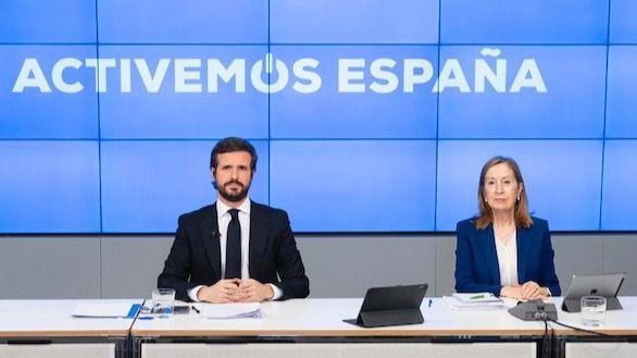 Pablo Casado y Ana Pastor.