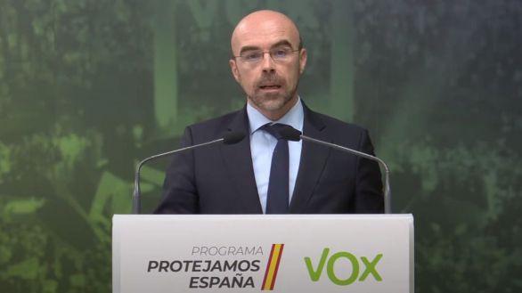 Jorge Buxadé, este lunes.
