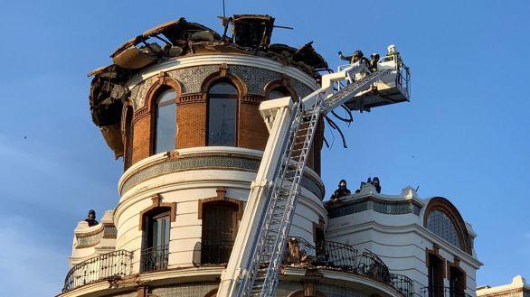 Se derrumba la cúpula de un edificio en el distrito de Retiro