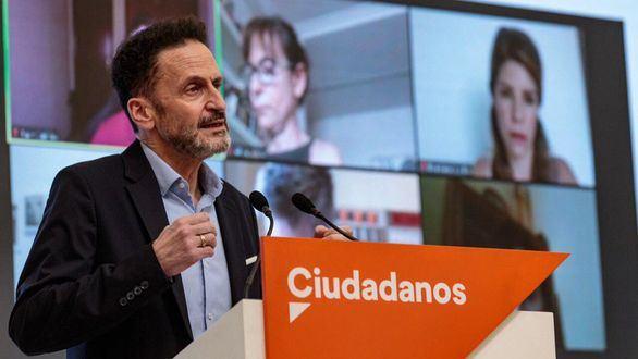 Edmundo Val, de Cs, en una conferencia telemática.