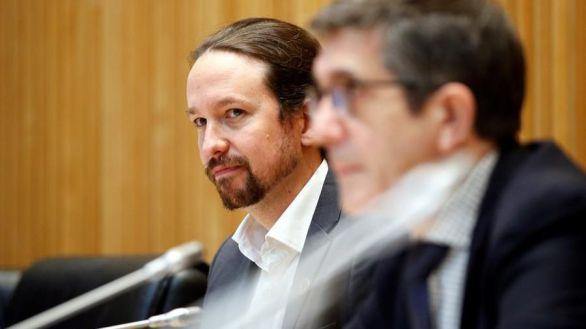 El vicepresidente segundo del Gobierno Pablo Iglesias y el presidente de la Comisión de Reconstrucción.