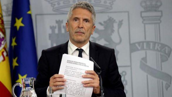El ministro del Interior en funciones, Fernando Grande-Marlaska, este viernes.