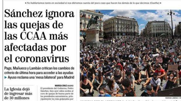 Las portadas de los periódicos de este lunes 8 de junio