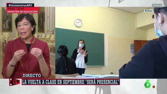 Celaá garantiza la vuelta al cole en septiembre, pero con mascarillas en las aulas